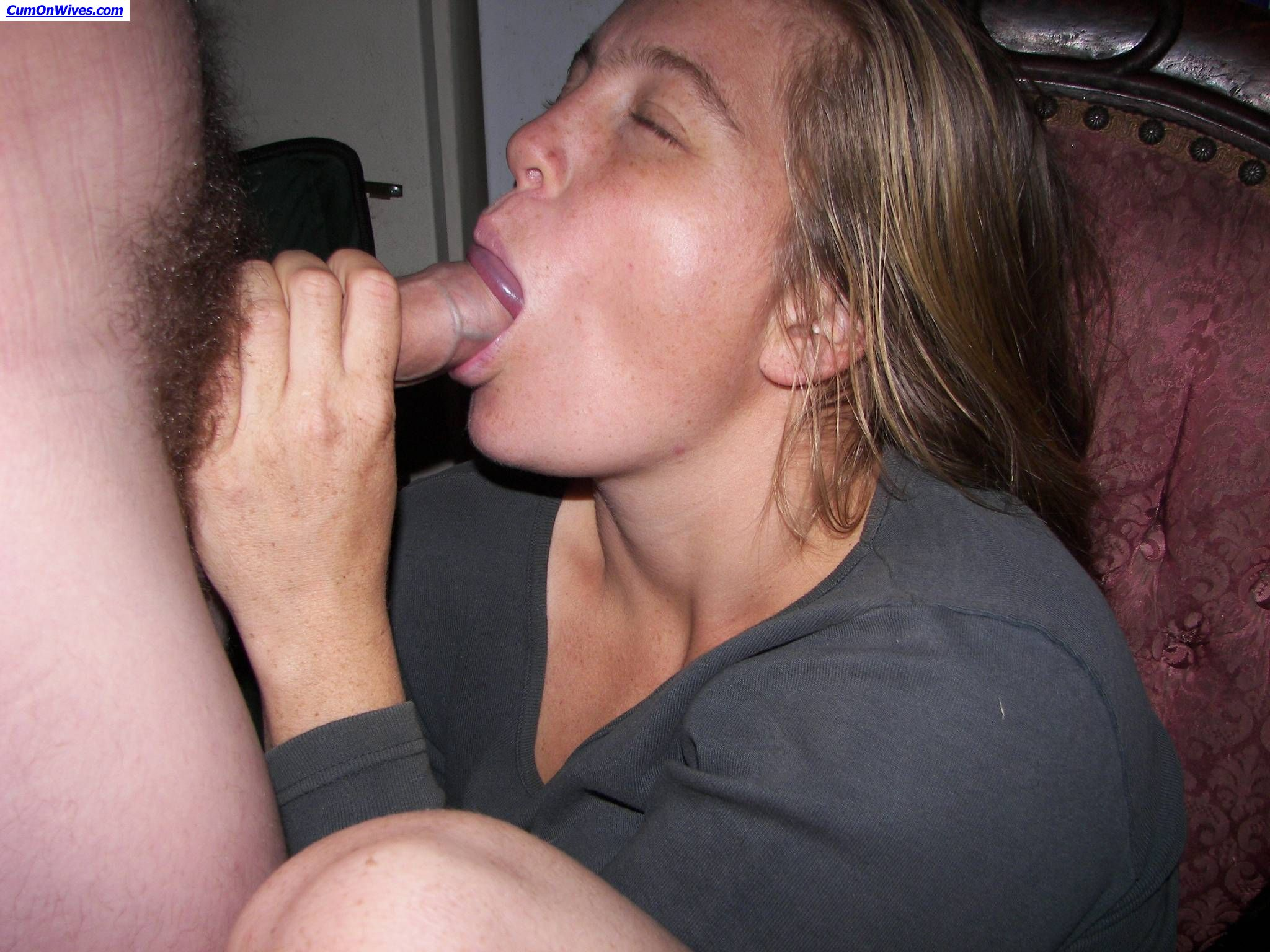 wives blowjobs Real giving